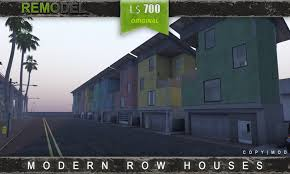 Modern Row Houses - second life marketplace modern row houses