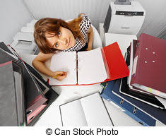chief accountant serious chief accountant at workplace with documents stock