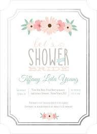 floral foil blush pink floral foil border bridal shower invitation bridal