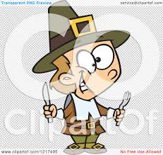 thanksgiving pilgrims clipart clipart of a cartoon hungry thanksgiving pilgrim boy holding