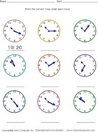 telling time analog clock faces five minute intervals 2nd 3rd