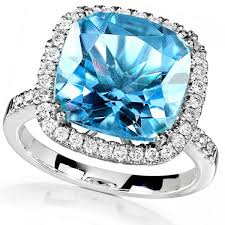 topaz gemstone rings images Blue topaz gemstone ring with diamond halo 14k white gold 5 10ct k21 jpg