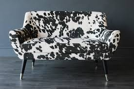 Faux Cowhide Chair Faux Cowhide Vintage Style 2 Seater Sofa Sofas U0026 Armchairs