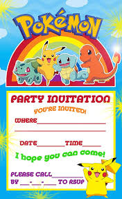 pokemon coloring pages pokemon pikachu party invite birthday