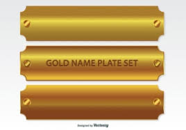 gold name plates gold name plate free vector graphic free found 4 081