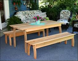 Plans For Picnic Table With Attached Benches by Wooden Picnic Tables Polywood Picnic Tables Patio Tables