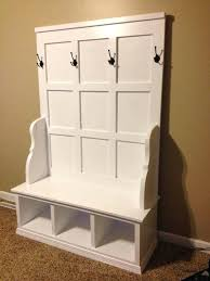 royce all in one mudroom storage hall tree entryway with bench
