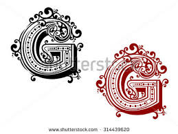 ornamental capital letters free vector stock