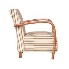 Restmore Antique Gold Regency Striped Classic Armchair Sha Rest