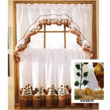 kitchen curtains rooster design rooster complete 36