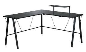 Black Glass L Shaped Desk Popular Glass Computer Desk Desk Design Modern Glass L Shaped