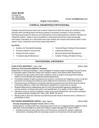 download chemical process engineer sample resume