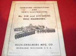 allis chalmers 214 215 series disk harrows operator u0027s manual