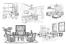 interior sketches room interior sketch illustrations creative market