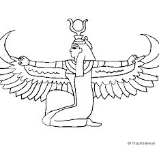 imagenes egipcias para imprimir dibujo de isis para colorear dibujos net