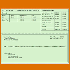 6 pay stub template pdfreference letters words reference