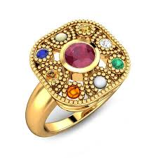 rings designs images images Navratna rings best designs price a kalyan jpg