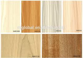 different types wood grain melamine paper for uv mdf color