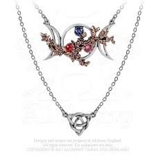 gothic moon necklace images Wiccan goddess of love triquetra necklace alchemy gothic triple jpg