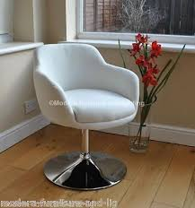 new white faux leather swivel chair white bucket chair