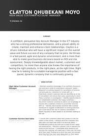 Manager Resume Examples Account Manager Resume Samples Visualcv Resume Samples Database
