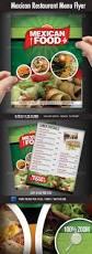 mexican restaurant menu flyer mexican restaurants flyers and