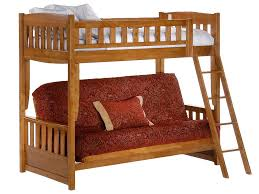 Futon Bunk Bed Oak Kids Wood Futon Bunk Sofa Bed Oak The Futon - Futon bunk bed
