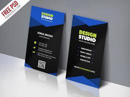 design studio business card template free psd business card