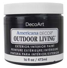 decoart americana decor outdoor living paint 16 oz iron gate