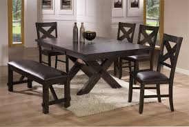 dining room set with bench kitchen endearing black kitchen table with bench blackc coated