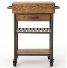 Reclaimed Kitchen Islands by Kershaw Rustic Chunky Reclaimed Wood Iron Single Drawer Kitchen