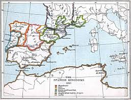 Map In Spanish Maps Of The Spanish Kingdoms 1030 A D 1556 A D Perry
