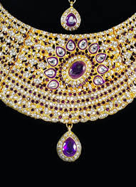 purple stone necklace set images Buy white n purple zircon stone choker necklace set kundan jpg