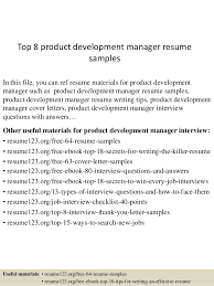 Product Manager Resume Sample by Top 8 Product Development Manager Resume Samples 1 638 Jpg Cb U003d1430028379