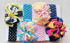 handmade hair bows aliexpress buy 20pcs 4 5 m2mg layered korker hair bow