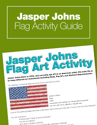 Jasper Johns Three Flags Fourth Of July Art Project U2013 Jasper Johns For Kids U2014 Art History Kids