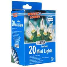 green cord 20 bulb mini indoor clear light set hobby lobby 26243
