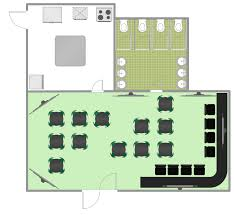 floor plans bar conceptdraw sles building plans cafe and restaurant plans