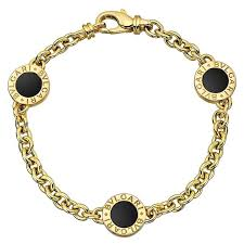 gold onyx bracelet images Bulgari black onyx gold station bracelet at 1stdibs jpg
