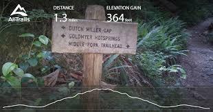 springs washington map goldmyer springs trail washington alltrails com