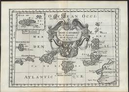 Teotihuacan Map Atlantic Ocean Canary Islands Madeira 1699 Sanson Lovely