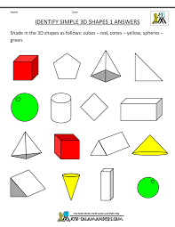 First Grade Math Printable Worksheets First Grade Geometry