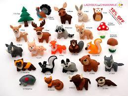 forest animals woodland animals felt magnets price per 1 item