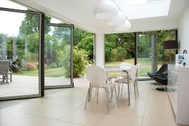 patio doors cozy tile flooring with mid century dining chairs and