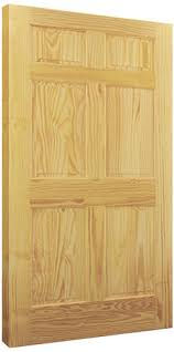 Slab Interior Door Mastercraft Pine 6 Panel Interior Door Only At Menards