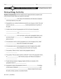 printables 5 themes of geography worksheet ronleyba worksheets