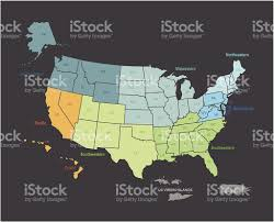 States Map Of Usa by Outline Map Of Usa With States And Teritories Marked Stock Vector