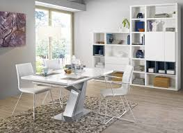 setis white lacquer y leg extending dining table style our home