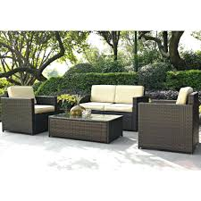 Patio Sectional Furniture Clearance Outdoor Patio Chair Wedge Wicker Lounge With Ottoman Chairs Home