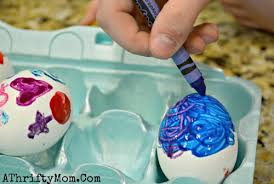 Decorating Easter Eggs Dye by Melted Crayon Easter Eggs How To Dye Easter Eggs With Melted
